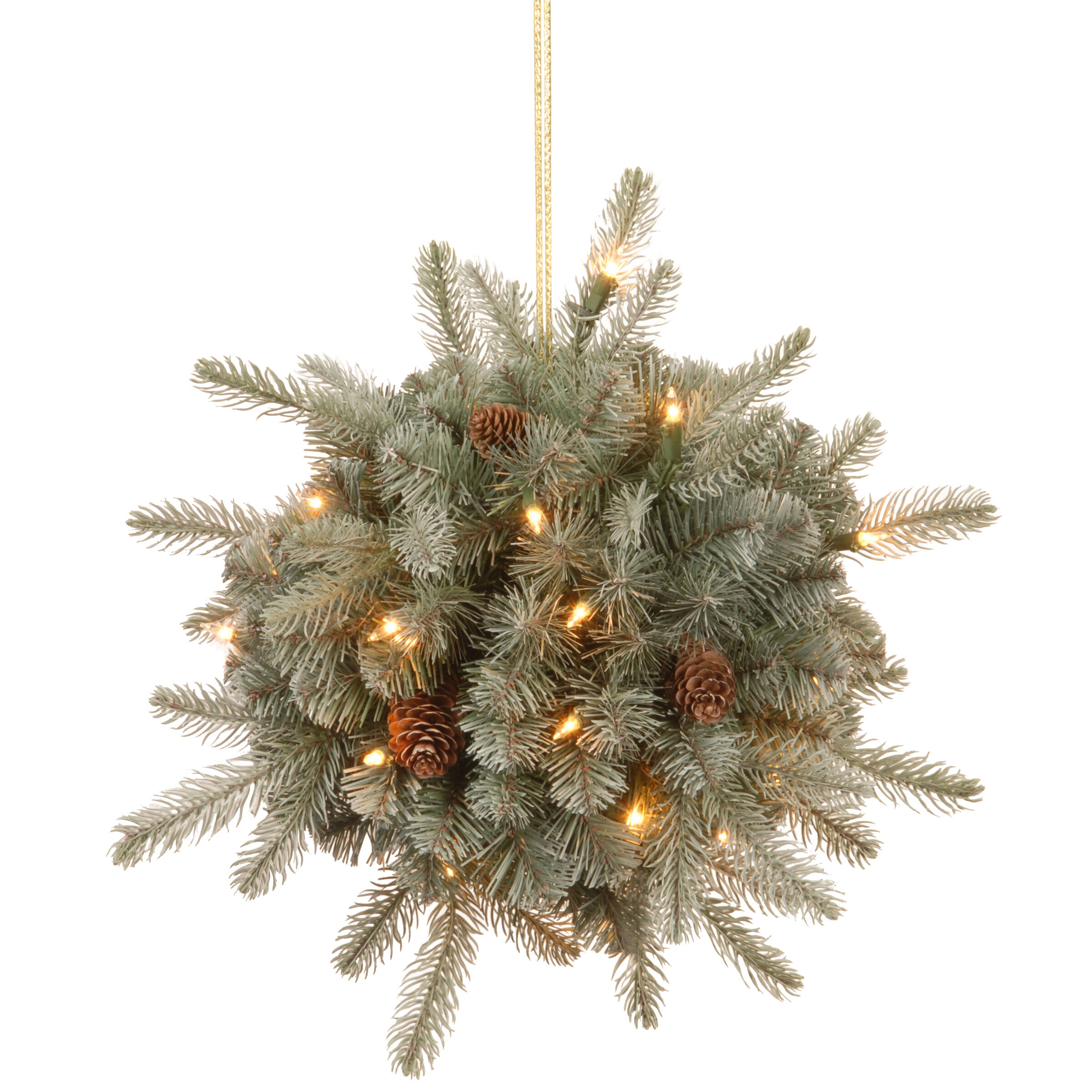 Darby Home Co Frosted Arctic Spruce Kissing Ball & Reviews | Wayfair