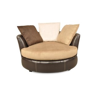 Leake Swivel Chair and A Half by Brayden Studio