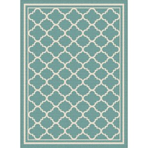 Fairhaven Aqua Indoor/Outdoor Area Rug