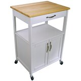 Allie Kitchen Cart with Wood Top by August Grove®
