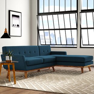 Modern Contemporary Teal Sectional Sofa 3 Piece Wedge Allmodern