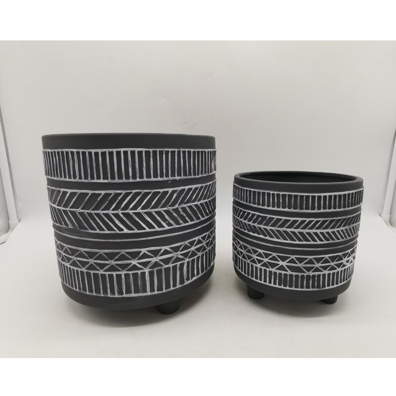 Union Rustic Charmayne 2 Piece Ceramic Pot Planter Set Wayfair