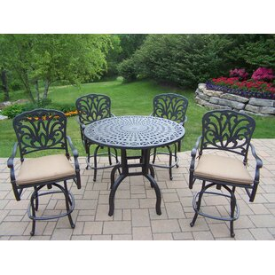 Bosch 5 Piece Bar Height Dining Set with Cushions