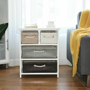 Jannie 5 Drawer Bedside Table By Brambly Cottage