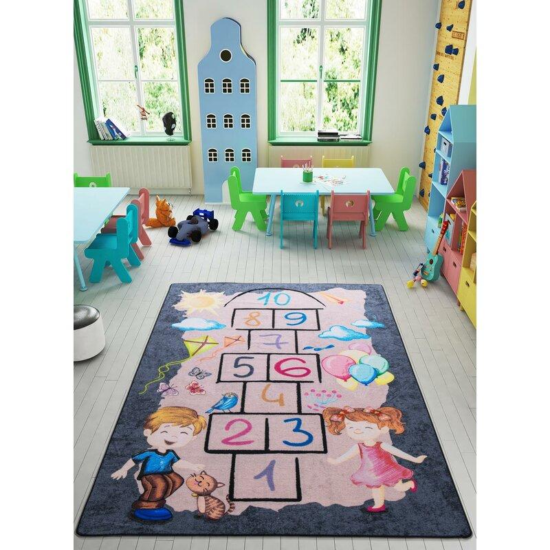 Zoomie Kids Hangah Animal Print Dhurrie Pink Area Rug Wayfair
