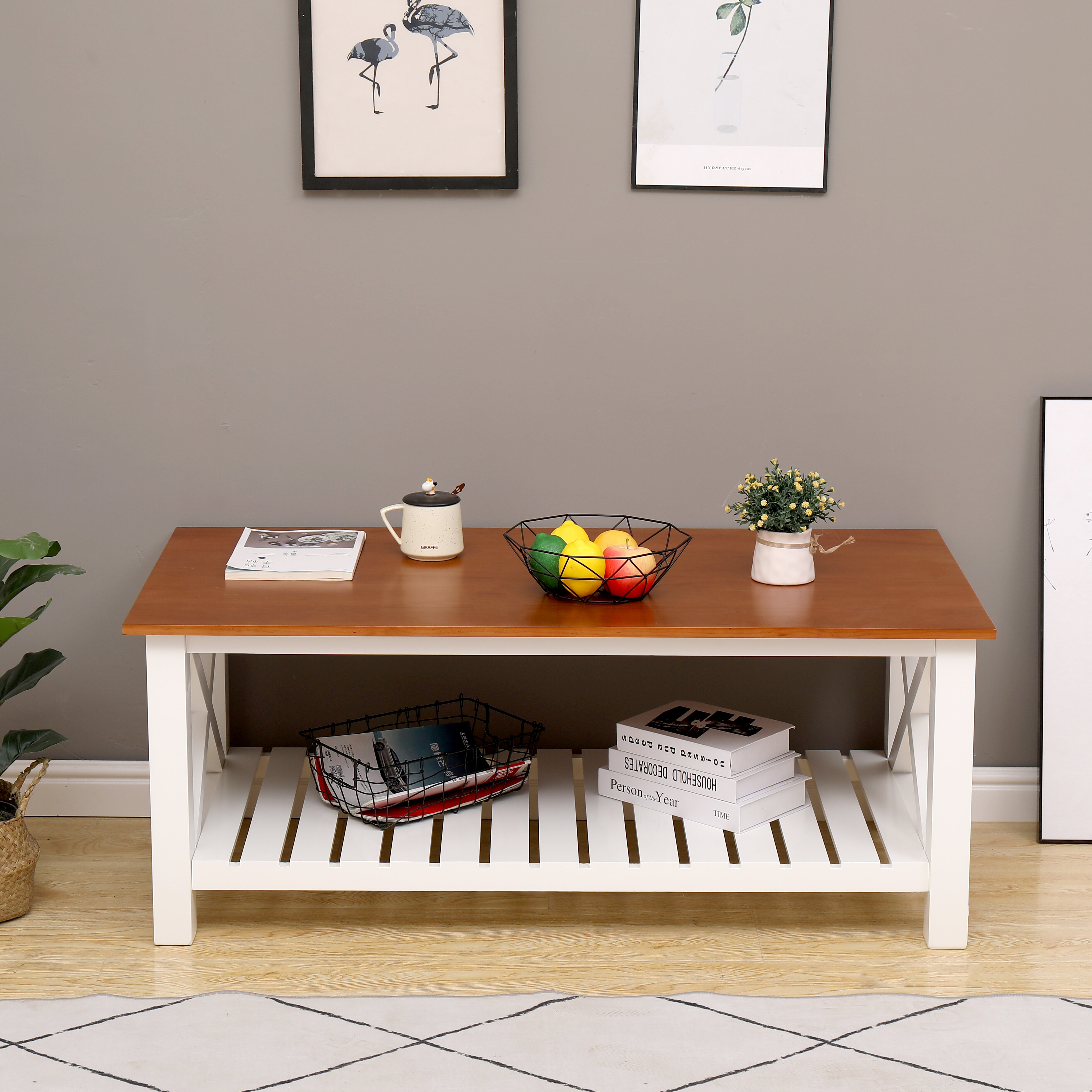 Longshore Tides Drakeford Solid Wood Coffee Table With Storage Wayfair