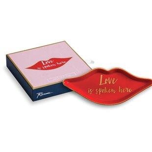 Lips Love Is Spoken Here Jewelry Tray Rosanna