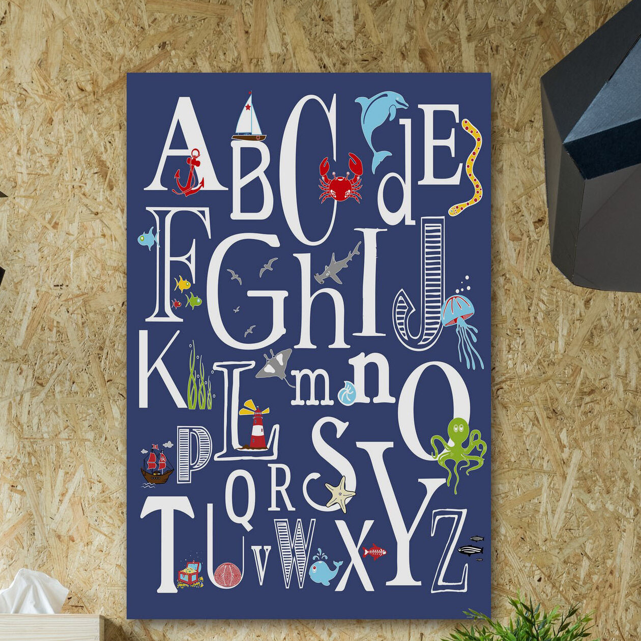 16 x 1.5 x 20 Proudly Made in USA Stupell Home D/écor All in a Dogs Day ABC Stretched Canvas Wall Art