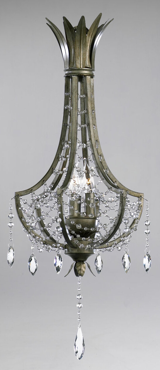 Cyan Design Luciani 3 Light Candle Style Empire Chandelier With Crystal Accents Wayfair