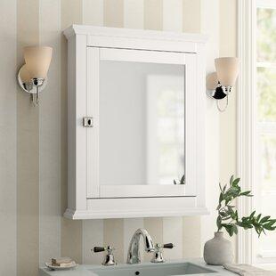 """Mejia 23.62"""" x 30"""" Surface Mounted Framed Medicine Cabinet with 2 Adjustable Shelves"""