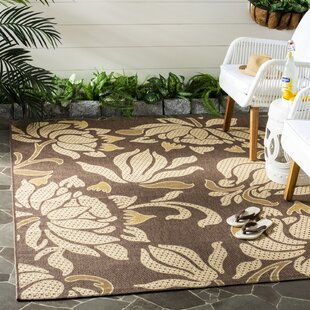 Laurel Light Chocolate/Cream Indoor/Outdoor Rug