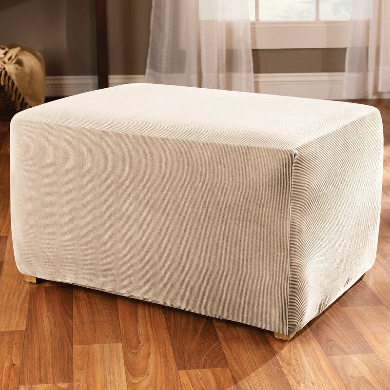 piece otto surefit leather products ottoman strgraham one slipcover stretch brown enz