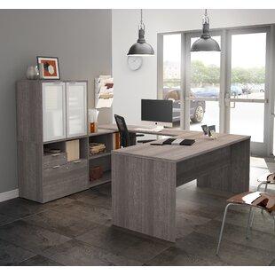 Prattsburgh Reversible U-Shape Executive Desk with Hutch by Brayden Studio