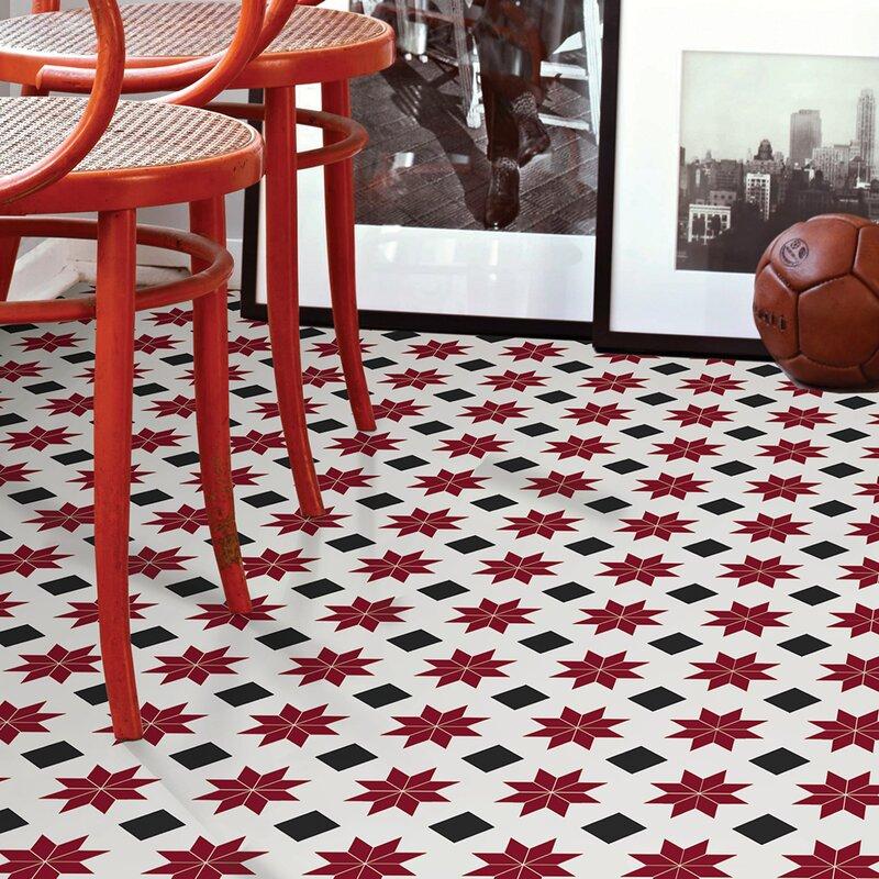 Wallpops Orion 12 X 12 Vinyl Tile In Red Wayfair