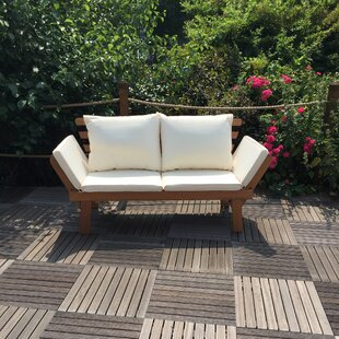 Double Reclining Sun Lounger With Cushion Image