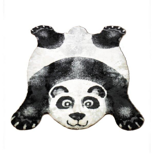 Walk On Me Panda Black Outdoor Area Rug U0026 Reviews | Wayfair