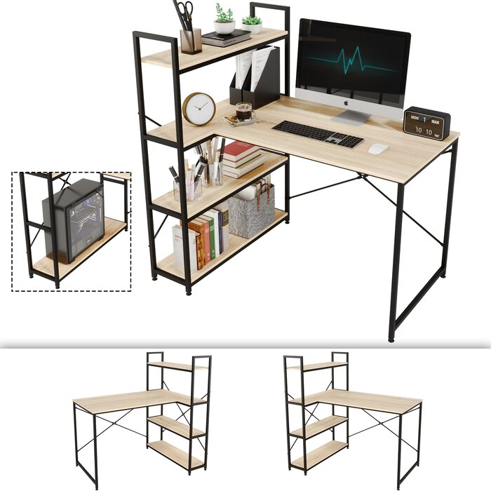 Inbox Zero Reversible L-Shape Desk