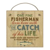 One Fine Fisherman and the Catch Wall Décor by Loon Peak®