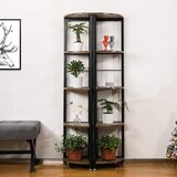 Ahed 59.1 H x23.6 W Metal Corner Bookcase (Set of 2) by Ebern Designs