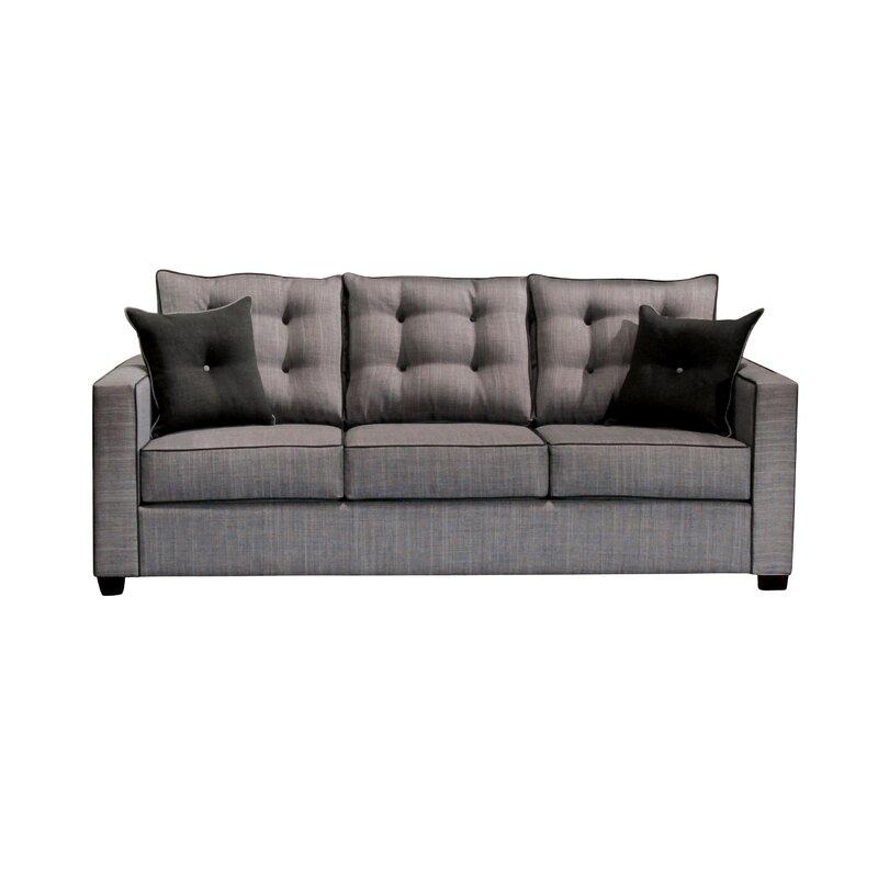 Hokku Designs Urban Valor 84 Wide Square Arm Sofa Wayfair