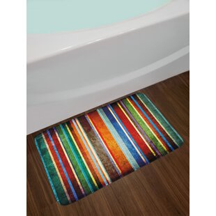 Vertical Multi Stripes Bath Rug