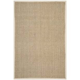 Affordable Abrielle Power Loom Natural/Ivory Area Rug Highland Dunes
