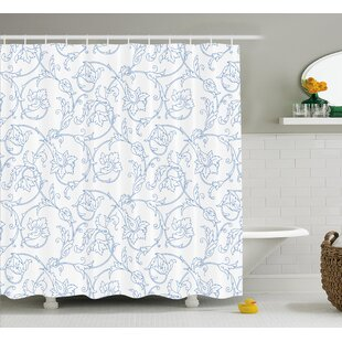 Affordable Farthing Bohemian Vintage Orchids Shower Curtain ByOphelia & Co.