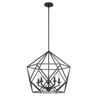Gracie Oaks Matta 5-Light Geometric Chandelier