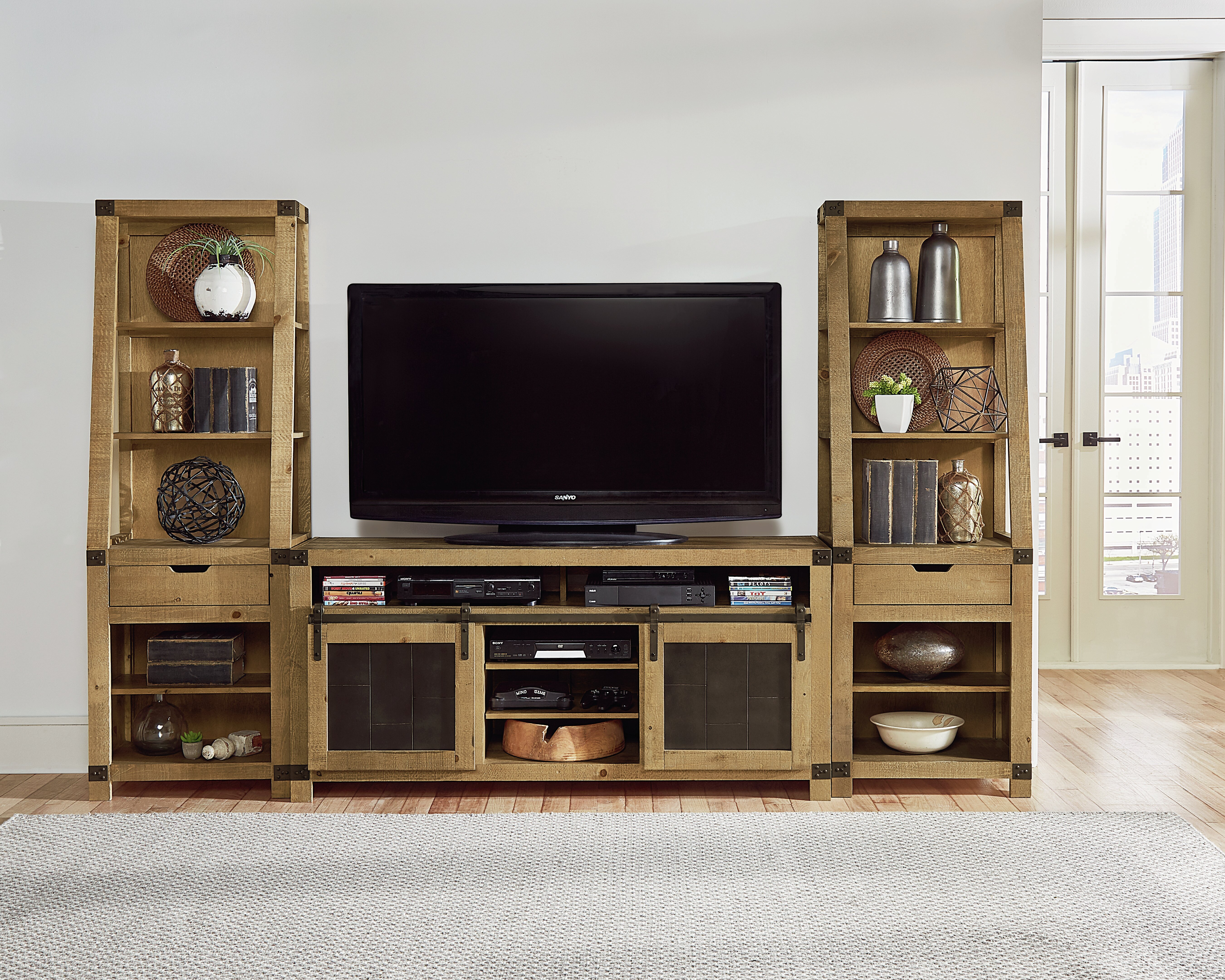 Loon Peak Solid Wood Entertainment Center For Tvs Up To 60 Reviews Wayfair