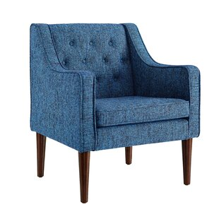 Zaftig Tufted Back Arm Chair by Charlton Home