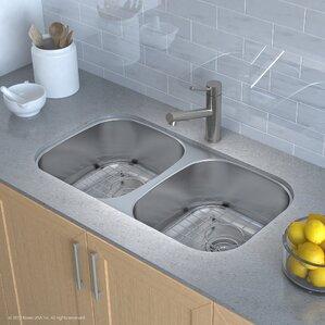Undermount Kitchen Sinks Stainless Steel 16-17 gauge kitchen sinks you'll love | wayfair