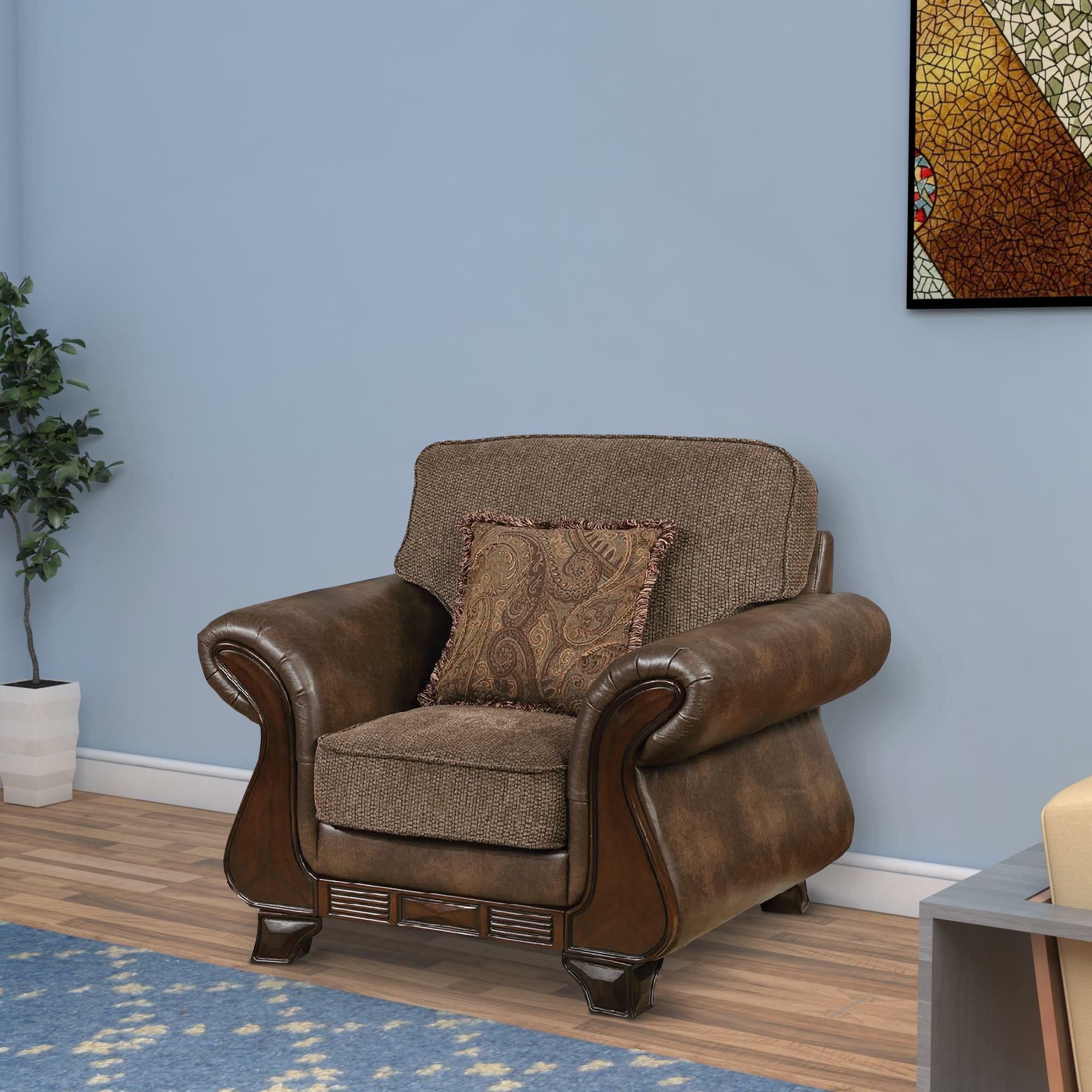 Fleur De Lis Living Horncastle 43 75 W Leather Match Club Chair Wayfair