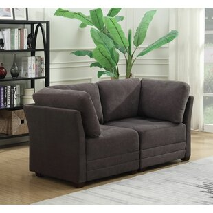 Hutcheson Modular Love Seat Charlton Home