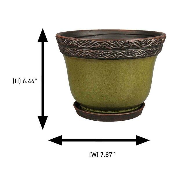 World Menagerie Geneve 2 Piece Ceramic Pot Planter Wayfair