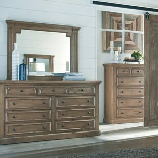 Oakwood 9 Drawer Dresser with Mirror