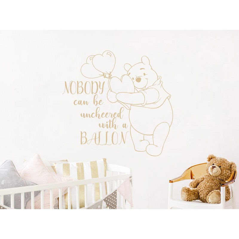 Pooh Quotes Heart Balloon Wall Decal