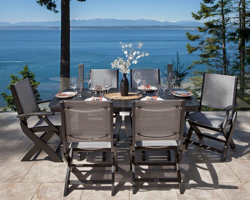 Coastal Dining Room Sets Polywood Coastal 7 Piece Dining Set U0026 Reviews  Wayfair
