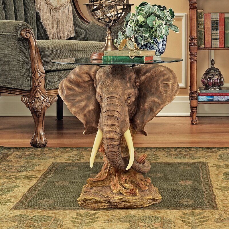 Lord Earl Houghtonu0027s Trophy Elephant Coffee Table
