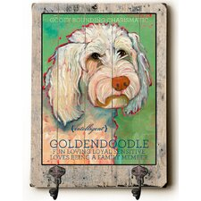Goldendoodle Planked Wood Wall Decor Wall Mounted Coat Rack by Andover Mills