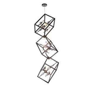 Tapi 12-Light Geometric Chandelier by CWI Lighting