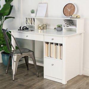 clinton computer desk with hutch