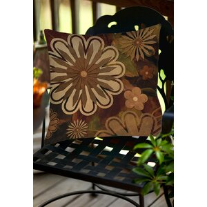 Floral Abstract I Indoor/Outdoor Throw Pillow