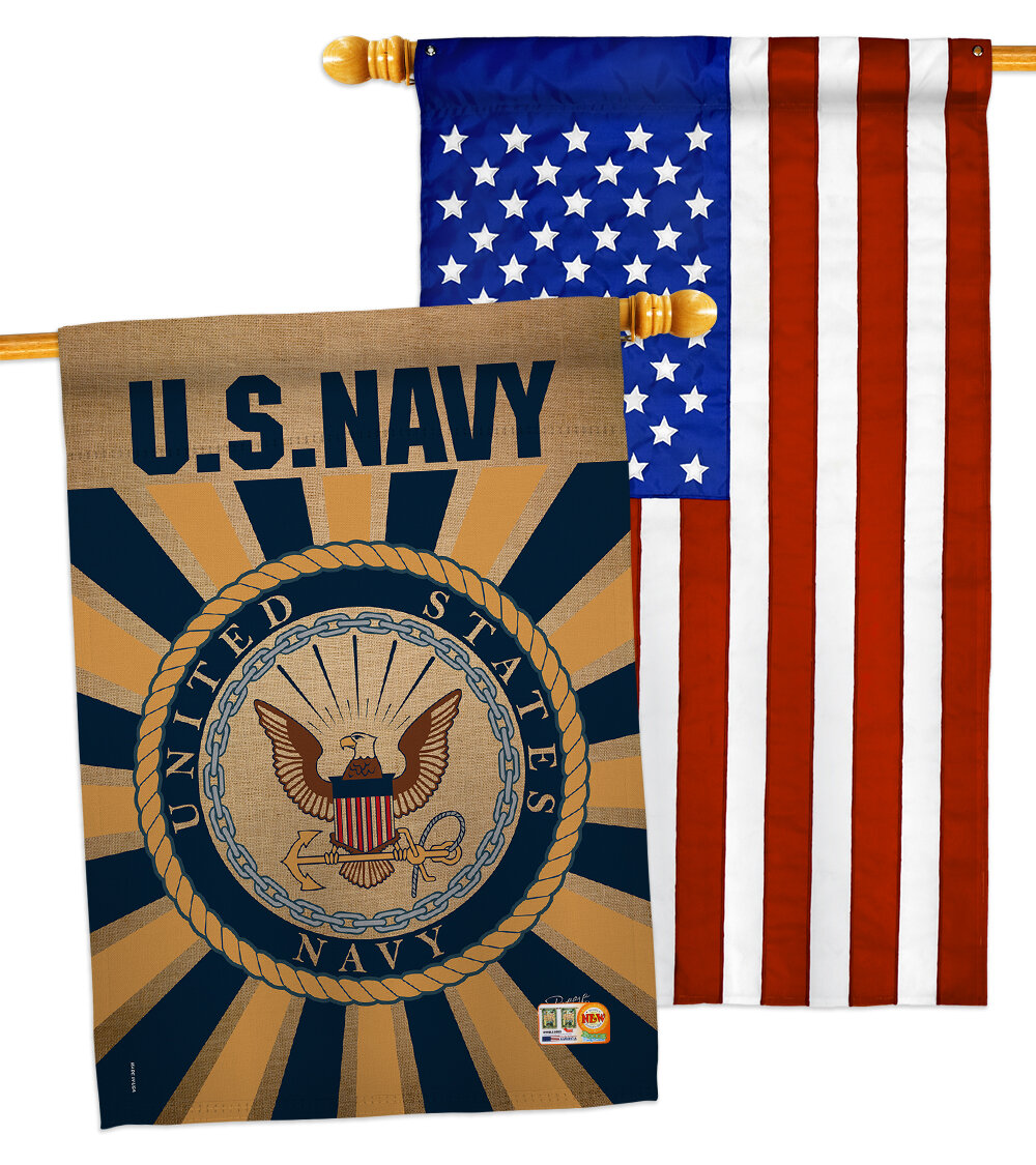 Breeze Decor 2 Piece Us Armed Forces Impressions Decorative 2 Sided Polyester 40 X 28 In House Flag Set Wayfair