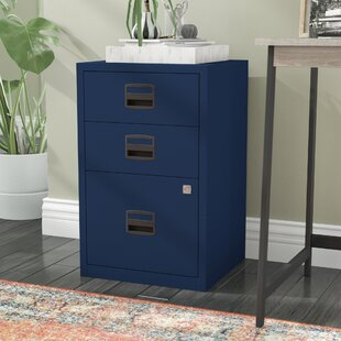 Sterling 3 Drawer Steel Home or Office Filing Cabinet by Rebrilliant