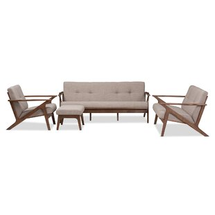 Coupon Wojtala Mid-Century Modern 4 Piece Living Room Set by Union Rustic Reviews (2019) & Buyer's Guide