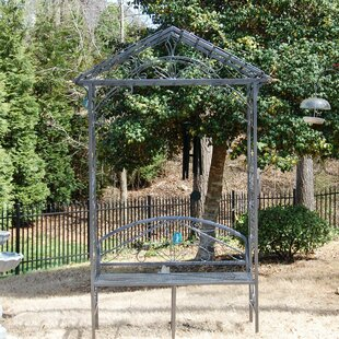 Griffith Creek Designs Pagoda Steel Arbor with Bench