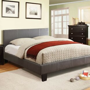 Ryedale Padded Leatherette Upholstered Platform Bed by Ebern Designs