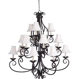 Darby Home Co Amelia 9-Light Shaded Chandelier