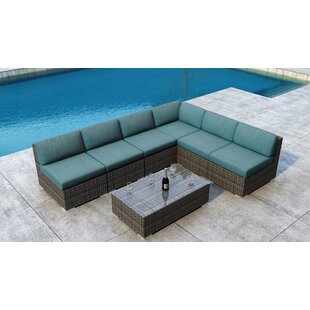 Orren Ellis Gilleland 7 Piece Sectional Set with Sunbrella Cushion
