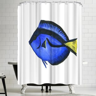 Suren Nersisyan Coral Fish Angelfish Suren 1 Single Shower Curtain